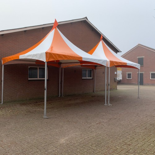 Product Pagode overkapping Oranje / Wit